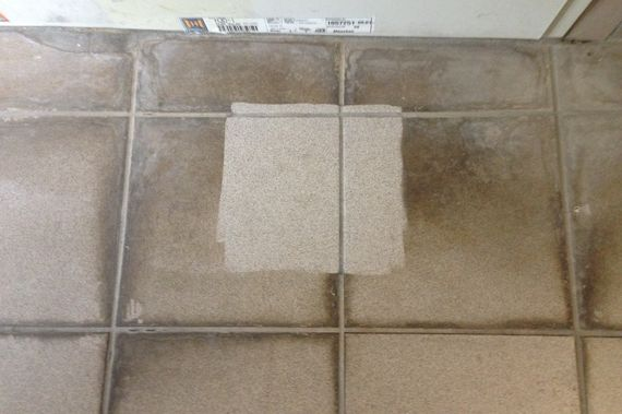 removal of persistent pollutants on floor tile